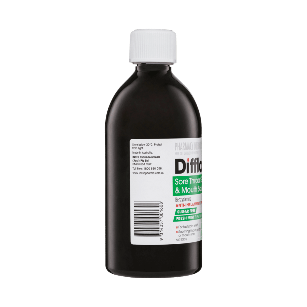 Difflam Sore Throat Gargle & Mouth Solution